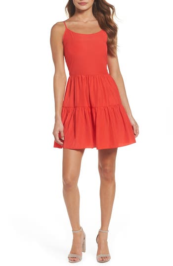 A By Amanda Fit & Flare Dress, Red