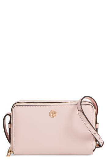 Tory Burch Mini Parker Leather Crossbody Bag - Pink