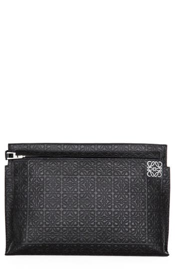 Loewe Large Logo Embossed Calfskin Leather Pouch - at NORDSTROM.com