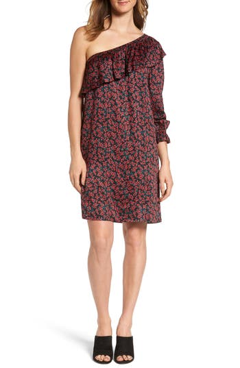 Velvet By Graham & Spencer One-Shoulder Print Shift Dress, Red
