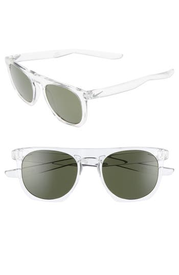 Nike Flatspot 52Mm Sunglasses - Crystal Clear / Wolf Grey
