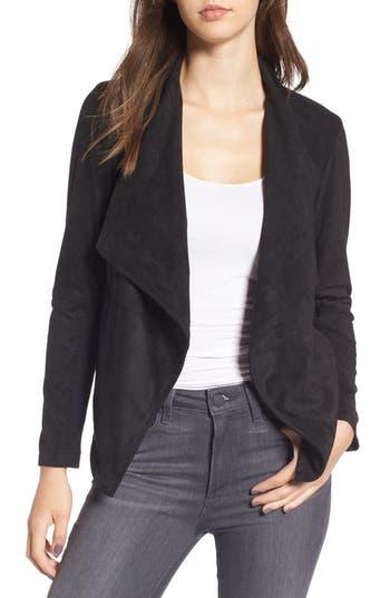 Women's Bb Dakota 'Nicholson' Faux Suede Drape Front Jacket