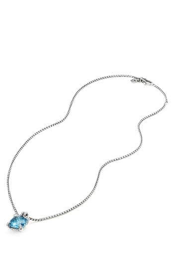 Women's David Yurman Châtelaine Pendant Necklace With Semiprecious Stone & Diamonds