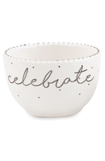 Mud Pie Celebrate Stoneware Dip Cup, Size One Size - White