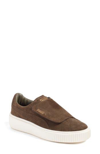 Puma Basket Platform Sneaker- Green