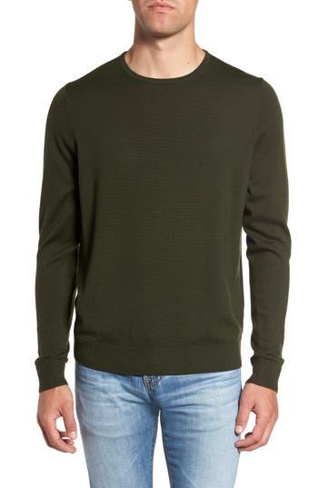 Big & Tall Nordstrom Shop Crewneck Merino Wool Sweater, Green