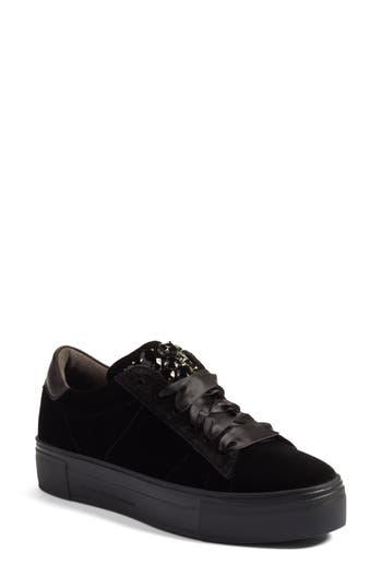 Kennel & Schmenger Big Velvet Lace-Up Sneaker- Black