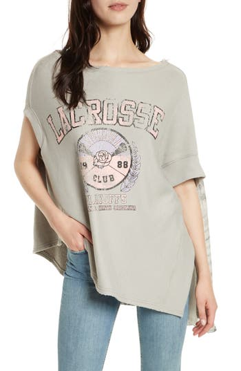 Free People Off Side Pullover, Grey