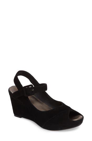 Johnston & Murphy Tara Platform Wedge Sandal, Black