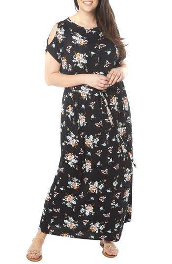 Plus Size Dorothy Perkins Cold Shoulder Jersey Maxi Dress, W US / 20 UK - Black