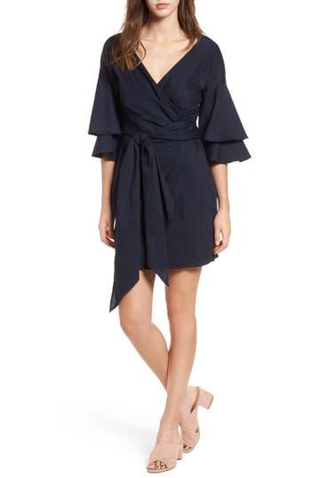 Women's Wayf Portrait Wrap Dress, Size X-Small - Blue