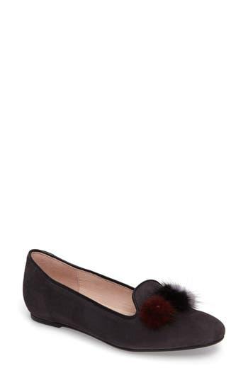 Patricia Green Wallis Genuine Fur Pompom Loafer, Grey