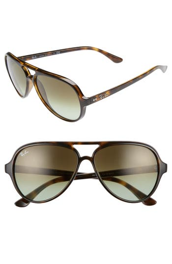 Ray-Ban 5m Resin Aviator Sunglasses - Havana/ Green