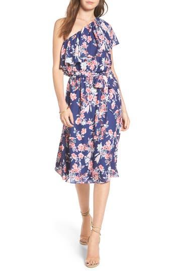 Women's Devlin Gilbert One-Shoulder A-Line Dress, Size X-Small - Blue