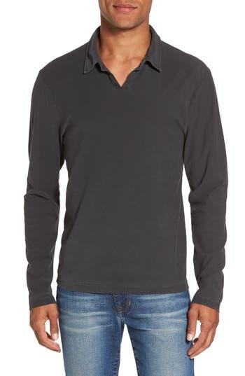 Men's James Perse Long Sleeve Cotton Polo