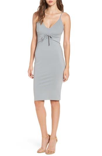 4Si3Nna Corset Detail Body-Con Dress, Grey