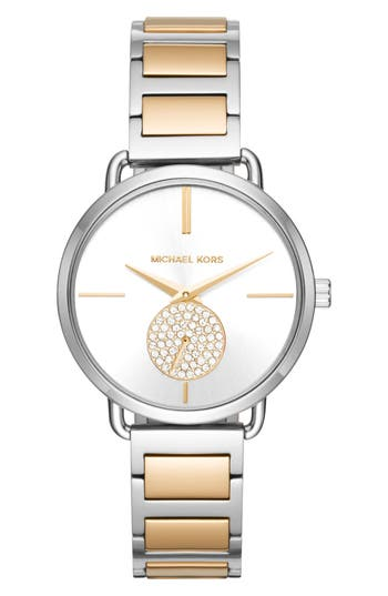 Women's Michael Michael Kors Portia Round Bracelet Watch, 36.5Mm