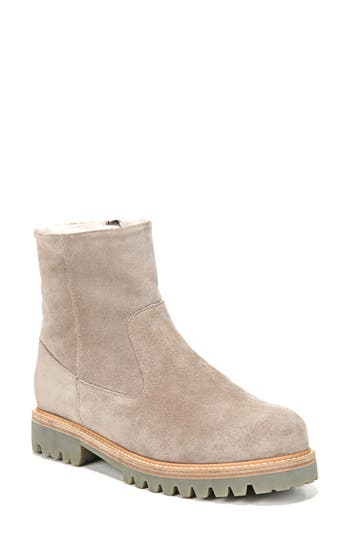Vince Frances Genuine Shearling Lug Boot, Grey