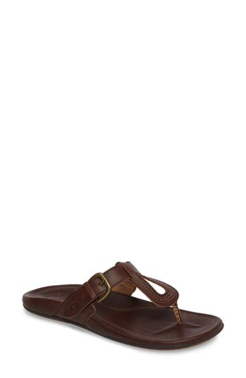 Olukai Lanakila Buckle Flip Flop Women), Brown