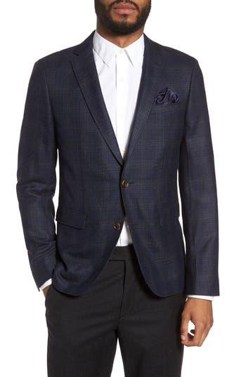 Sand Trim Fit Wool Sport Coat, 6R EU - Grey