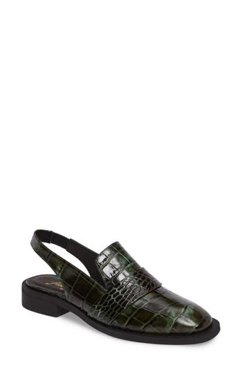 Free People Abbey Road Embellished Slingback Loafer, Green