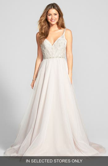 Hayley Paige Roxanne Beaded Bodice Gown