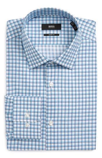 Men's Boss Marley Check Trim Fit Dress Shirt