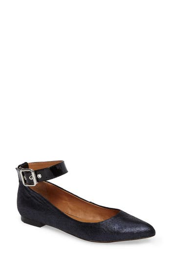 Corso Como Ramona Ankle Strap Flat- Blue