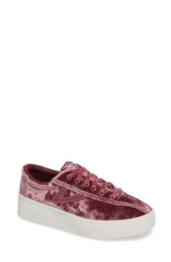 Tretorn Bold Perforated Platform Sneaker, Pink
