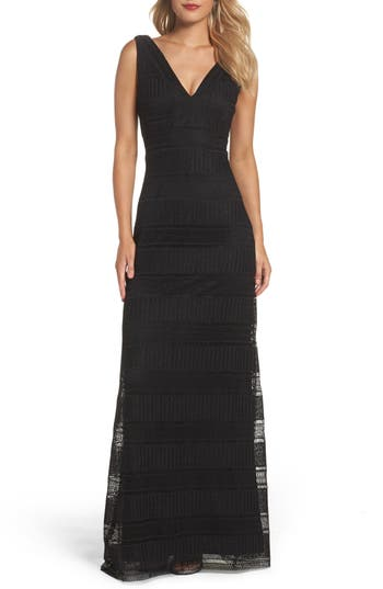 Vera Wang Crochet Gown, Black