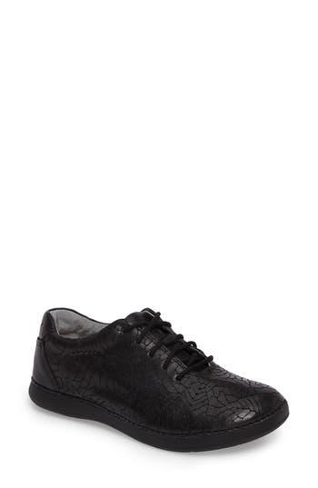 Alegria Essence Lace-Up Leather Oxford, Black