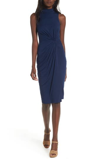 Women's Soprano Twist Front Body-Con Dress, Size X-Small - Blue
