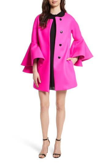 Women's Milly Melton Bonded Coat, Size Petite - Pink