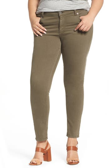 Plus Size Lucky Brand Ginger Skinny Jeans, Green