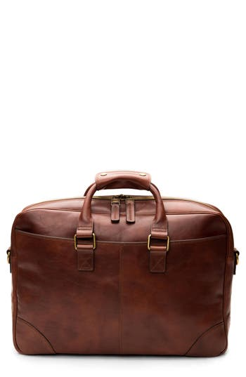 Bosca Leather Briefcase - Brown
