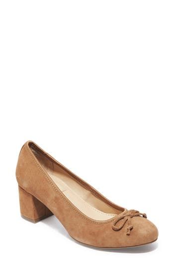 Me Too Lily Bow Pump- Brown