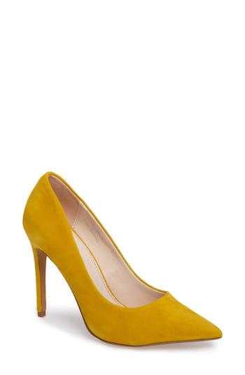 Topshop Grammer Pointy Toe Pump - Yellow