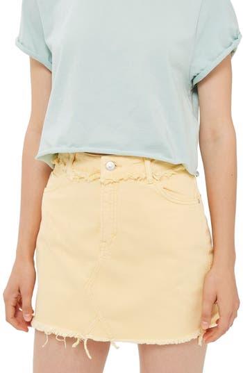 Topshop Denim Miniskirt, US (fits like 10-12) - Yellow