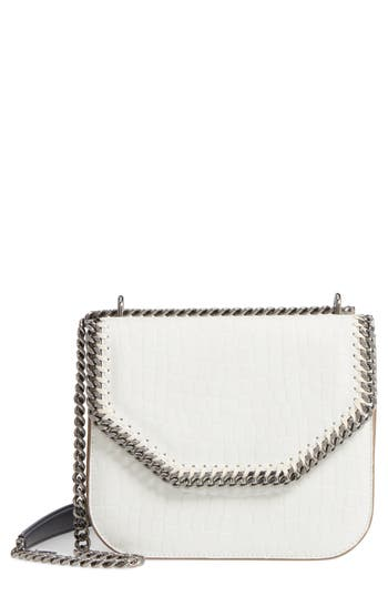 Stella Mccartney Falabella Box Faux Leather Shoulder Bag - White at NORDSTROM.com