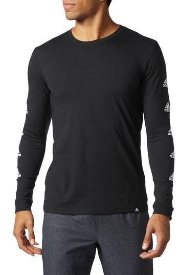 Adidas Badge Of Sport Long Sleeve T-Shirt, Black