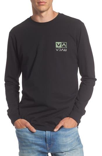 Rvca Flipped Box Graphic T-Shirt, Black