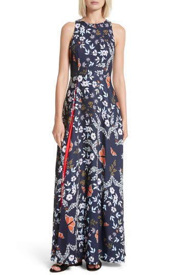 Ted Baker London Saskae Kyoto Gardens Maxi Dress, Blue