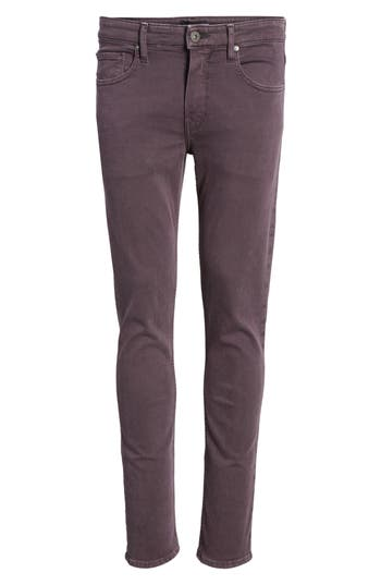 Paige Transcend - Federal Slim Straight Fit Jeans, Purple