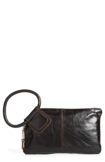 Hobo Sable Calfskin Leather Clutch -