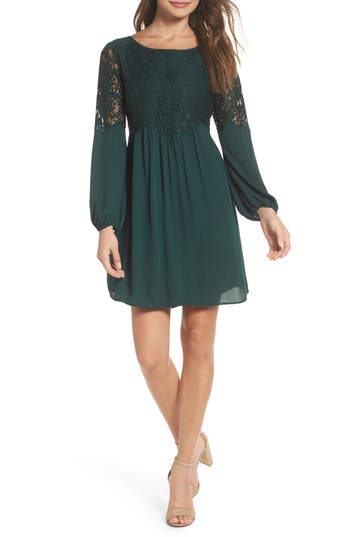 Chelsea28 Lace Fit & Flare Dress