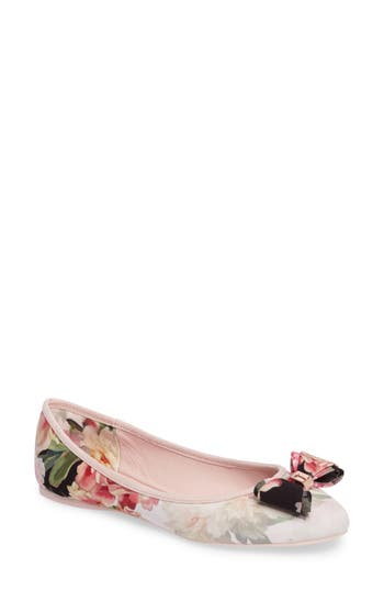 Women's Ted Baker London Immep Bow Flat, Size 9 M - Pink