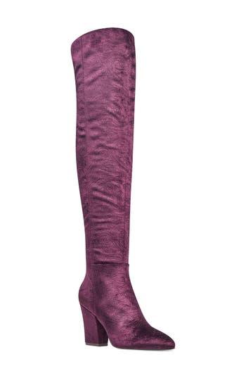 Nine West Siventa Over The Knee Boot, Purple