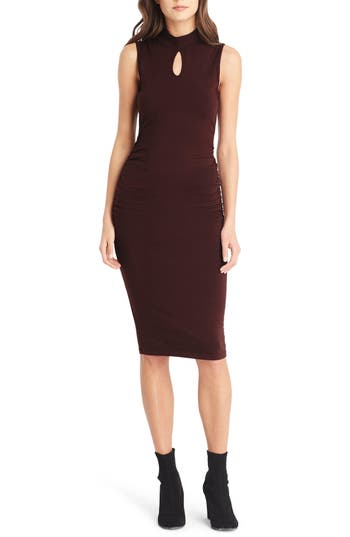 Michael Stars Keyhole Body-Con Dress, Burgundy
