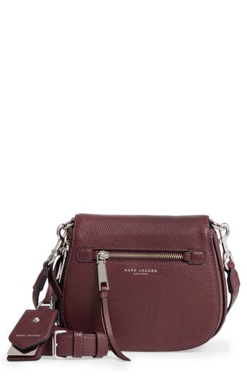 Marc Jacobs Small Recruit Nomad Pebbled Leather Crossbody Bag - Purple