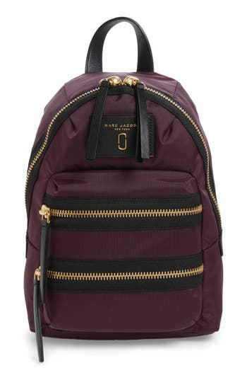 marc jacobs female marc jacobs mini biker nylon backpack purple
